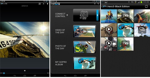 Aplikácia mobil - App GoPro