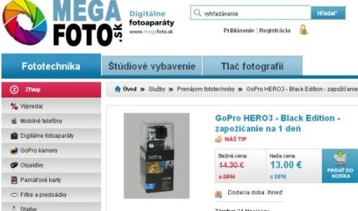 Zapožičanie GoPro